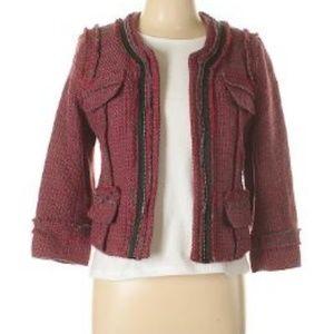Hinge Wool Tweed Blazer Sz L